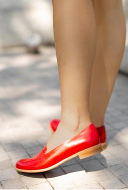 Czerwone mokasyny Aracelis