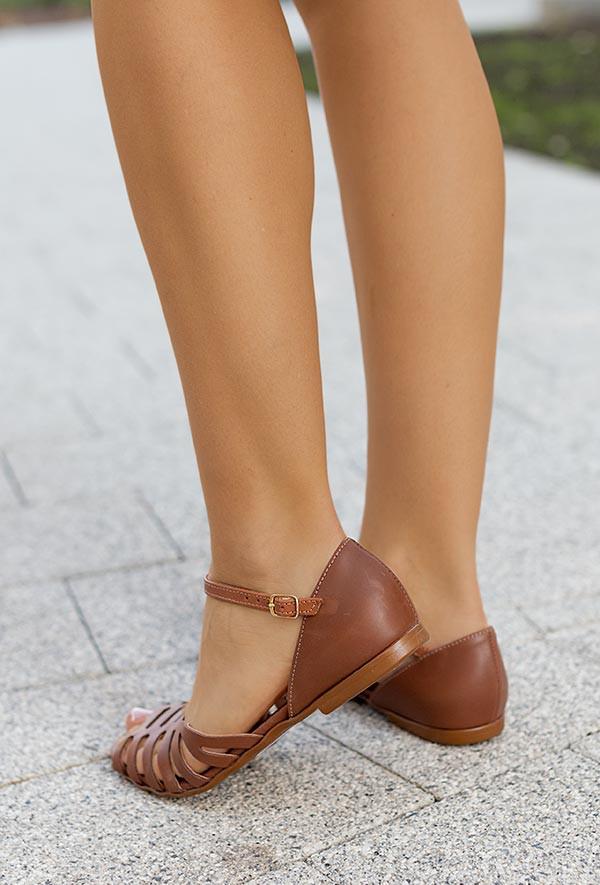 Sandały Lena ciemny brąz