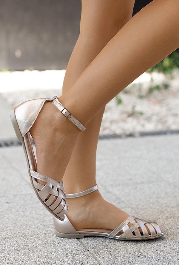 Srebrne sandały Dulce