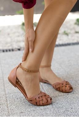 Brązowe sandały Dulce