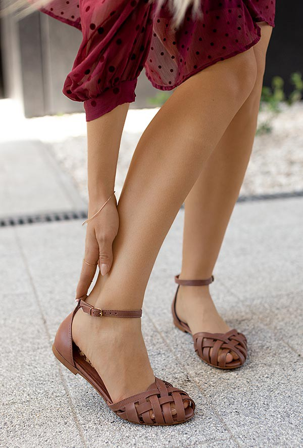 Sandały Dulce ciemny brąz