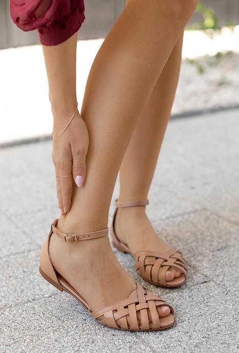 Sandały Dulce jasny brąz