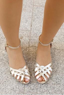 Złote sandały Dulce