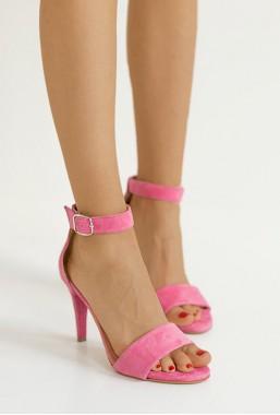 Zamszowe sandały Paris róż