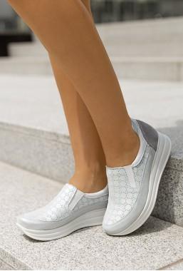 Srebrne sneakersy Divien