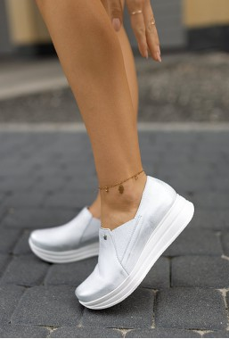 Srebrne sneakersy Jessy