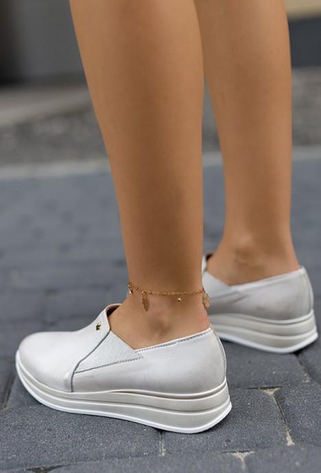 Biało złote sneakersy Jessy