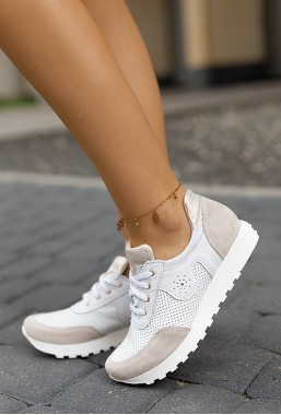 Białe sneakersy Marisia