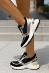 Czarne sneakersy Sazi gold