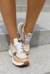 Sneakersy na koturnie Sazi