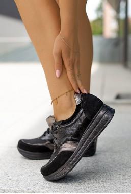 Czarne sneakersy JudiYo