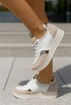 Biało beżowe sneakersy JudiYo