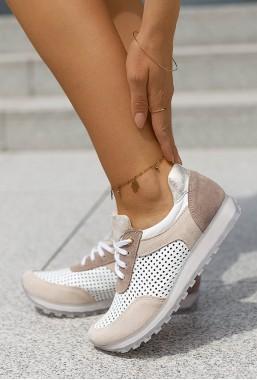 Jasnobeżowe sneakersy Jumba