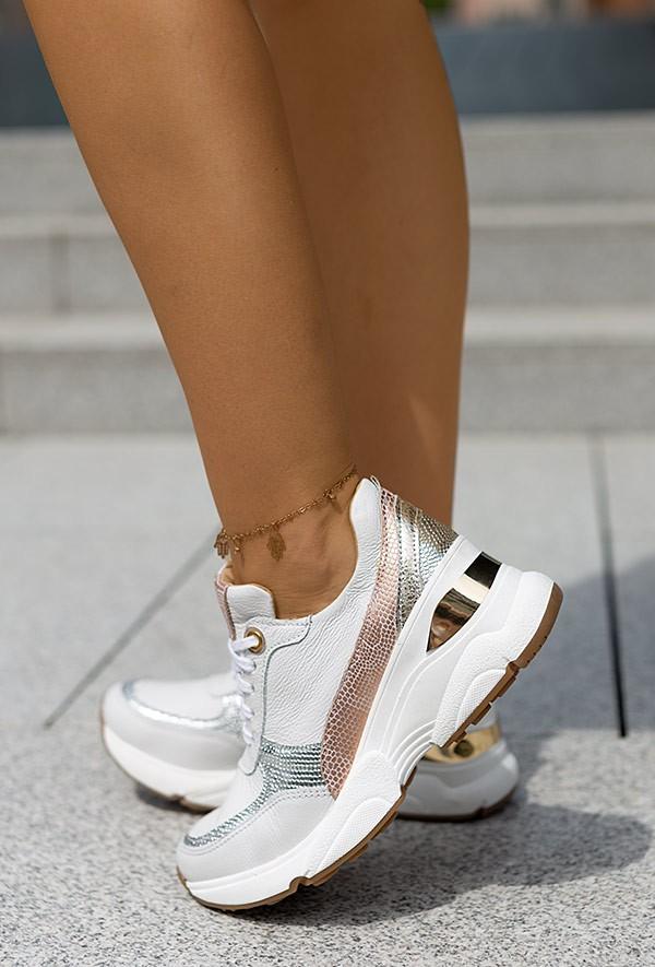 Białe sneakersy Sazi