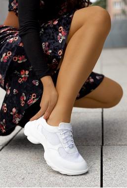Białe sneakersy Chunky