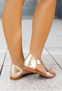 Ekskluzywne złote sandały JimGo