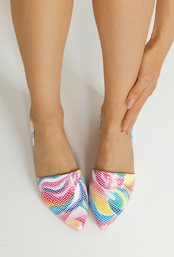 Baleriny Margot arcobaleno