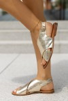 Złote sandały Grace