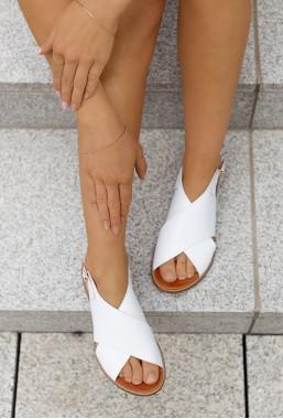 Białe sandały Grace