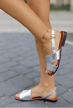Srebrne sandały Alexis