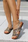 Wężowe sandały Alexis