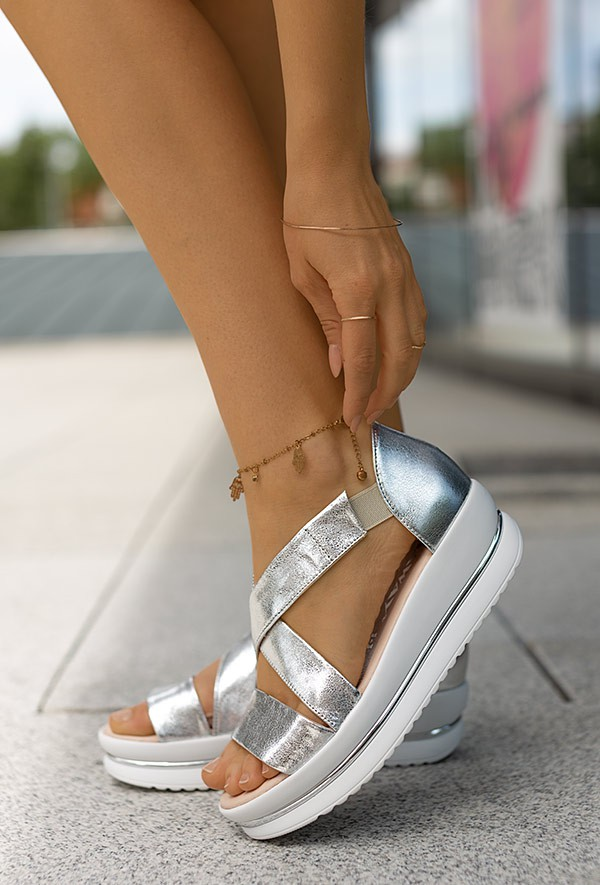 Srebrne sandały Mila