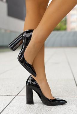 Eleganckie czarne czółenka Vini