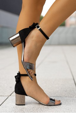 Eleganckie czarne sandały Rias
