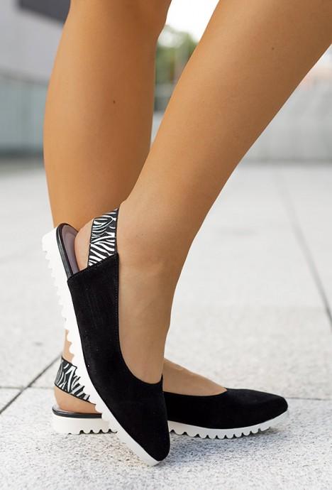 Czarne baleriny Lucie