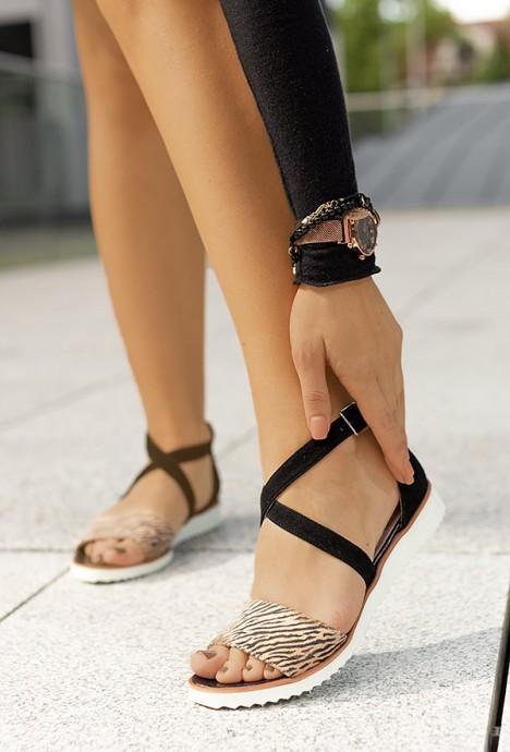Czarne sandały Vera