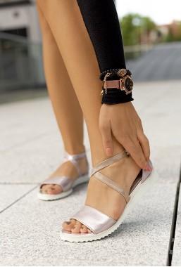 Sandały Vera różowe złoto