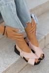 Sandały Elissa pudrowy róż
