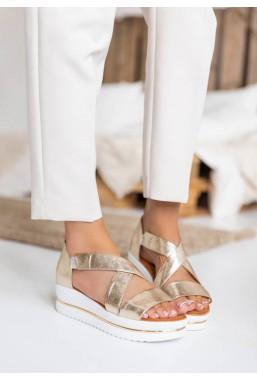 Złote sandały Mila