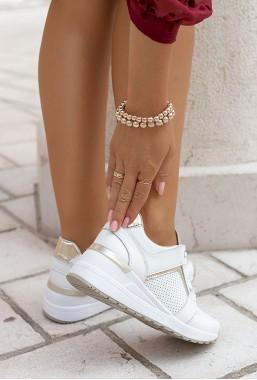 Ażurowe sneakersy Baem gold