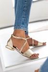 Złote sandały Sandi