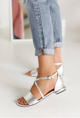 Srebrne sandały Sandi