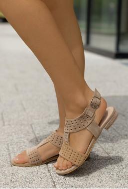 Beżowe sandały Cayethana