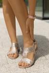 Srebrne sandały Cayethana