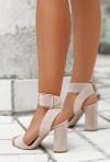 Sandały Jagna pudrowy róż