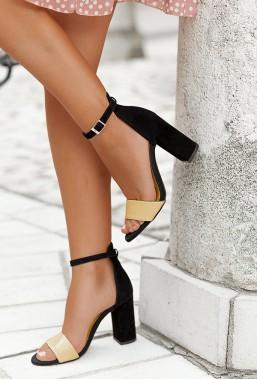 Czarne sandały Parma