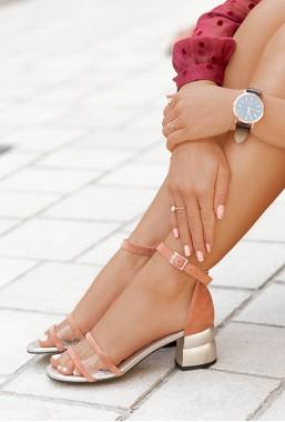 Sandały Citzana pudrowy róż