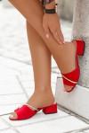 Czerwone klapki Vanila