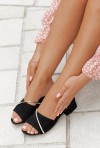 Czarne klapki Vanila
