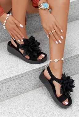 Czarne sandały Adella