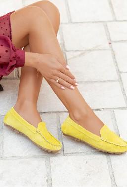 Żółte mokasyny Zora