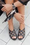 Czarne klapki Audrey