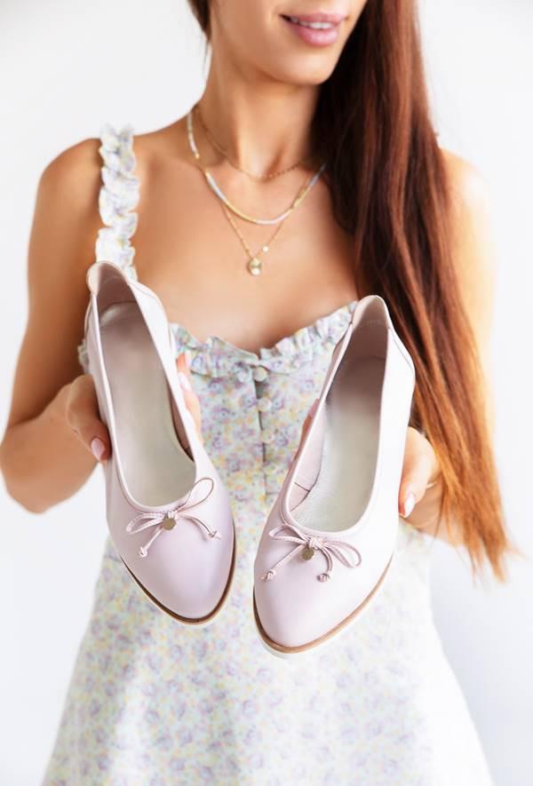 Damskie baleriny Lila róż