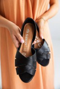 Czarne baleriny Fabiola