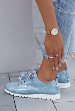 Metaliczne trampki Dionne blu