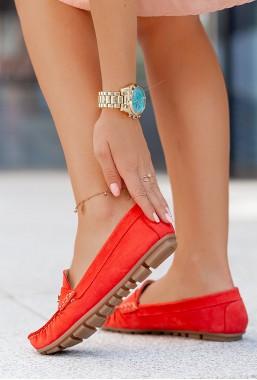 Czerwone mokasyny Lira